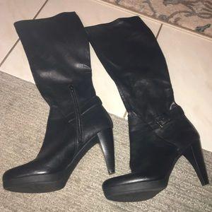 NINE WEST Heeled Leather Boots